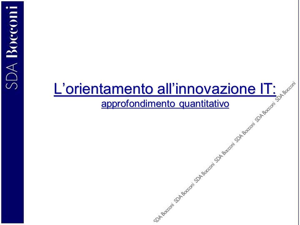 L'orientamento all'innovazione IT: approfondimento quantitativo