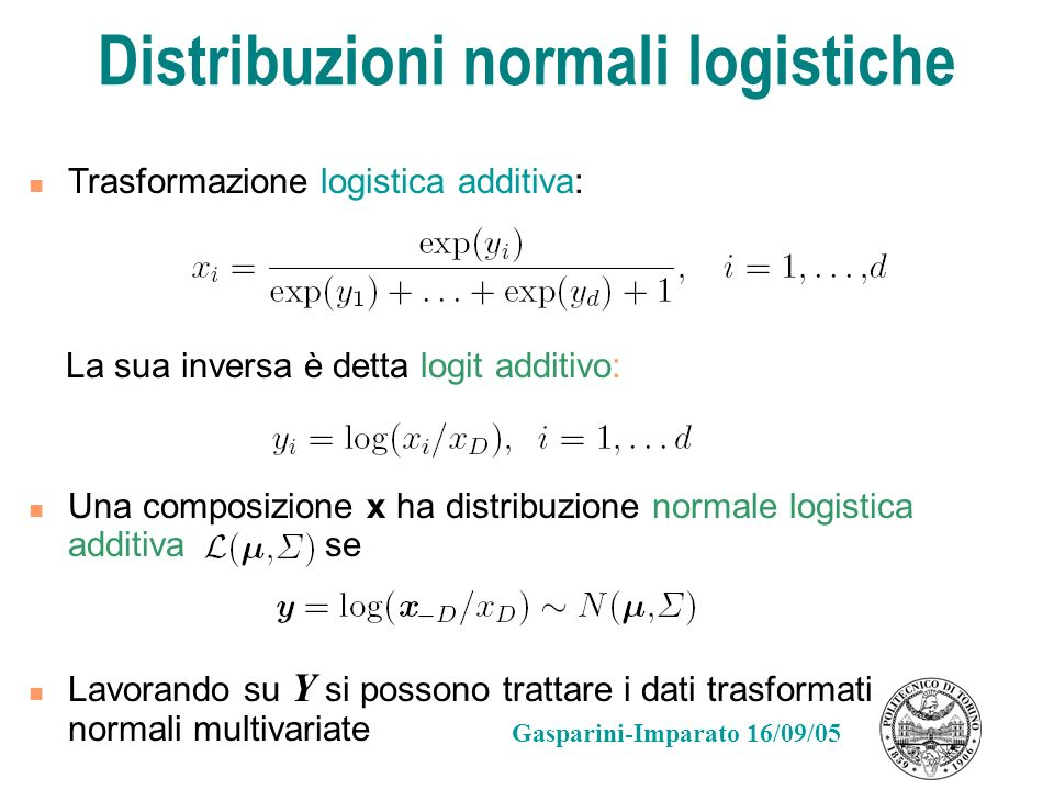 Distribuzioni normali logistiche