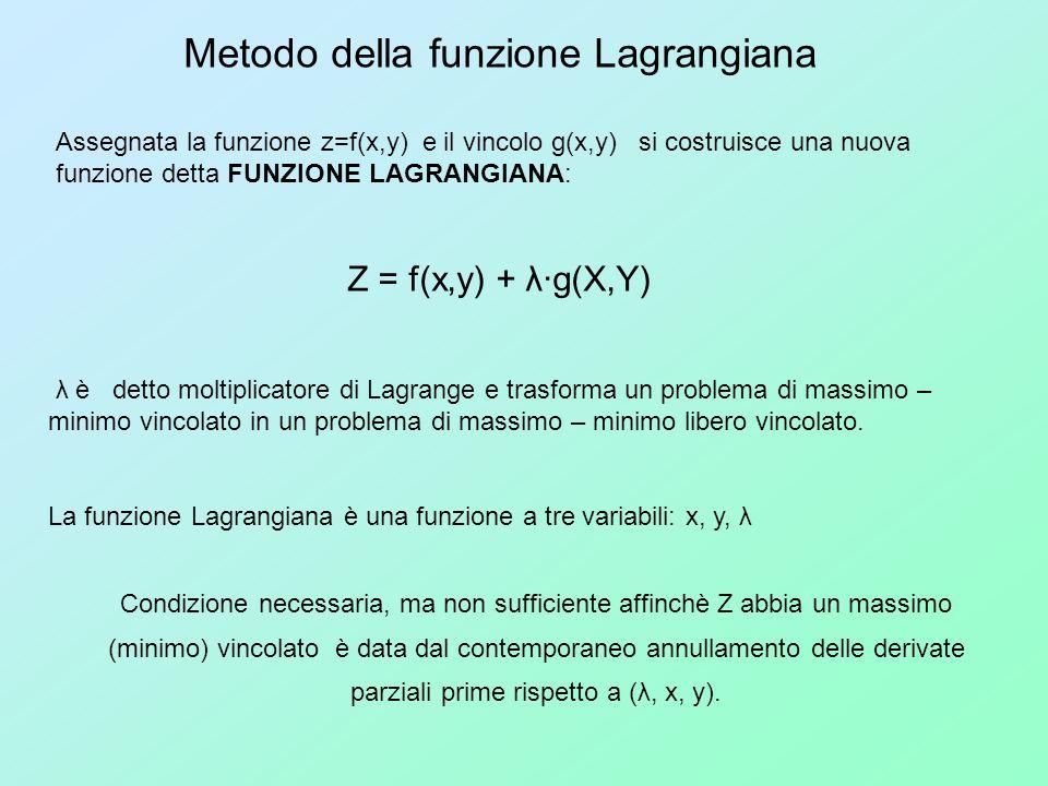Metodo della funzione Lagrangiana