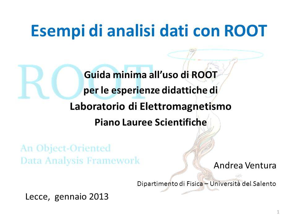 Esempi di analisi dati con ROOT