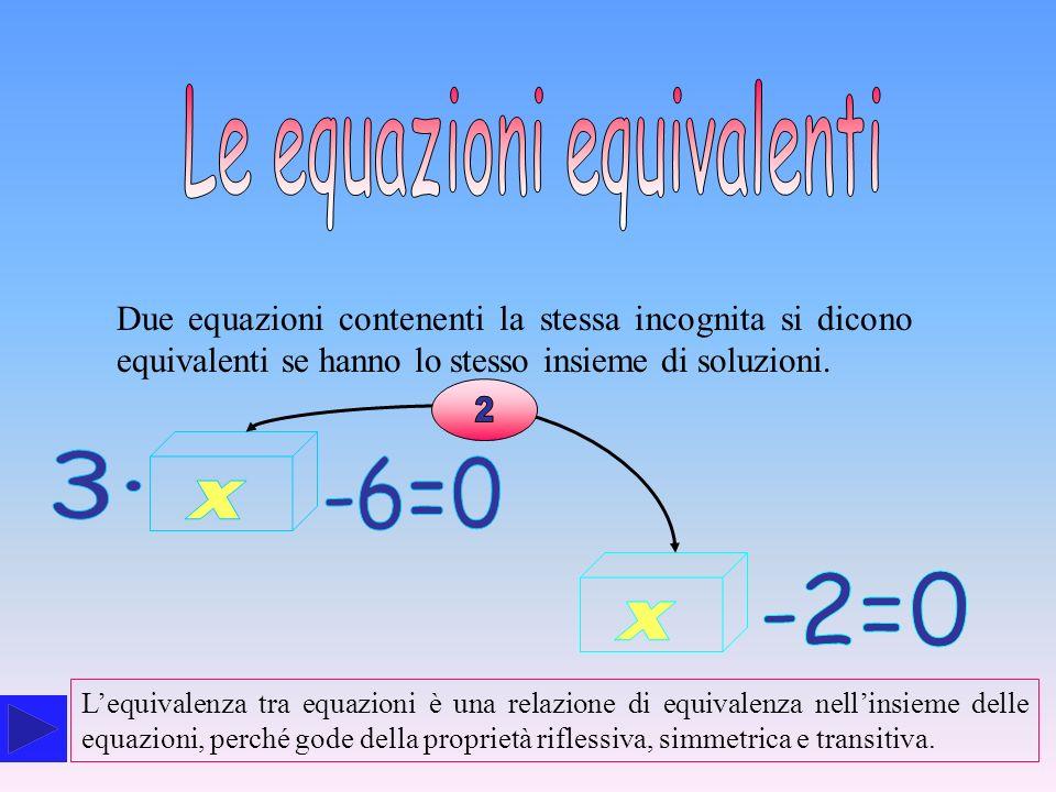 Le equazioni equivalenti