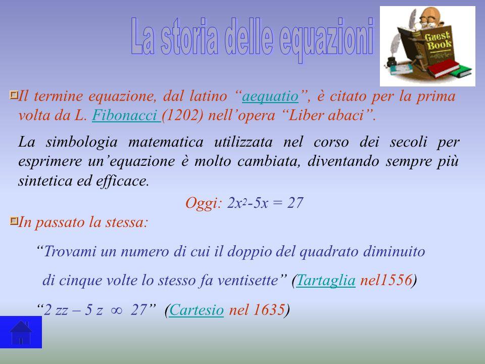 La storia delle equazioni