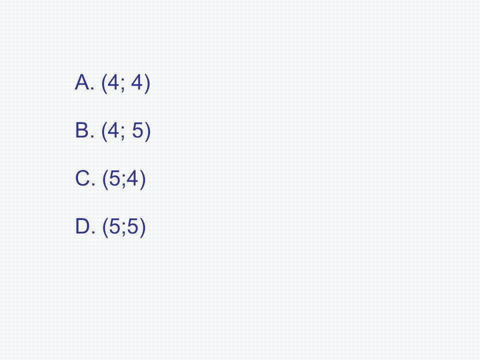 (4; 4) B. (4; 5) C. (5;4) D. (5;5)