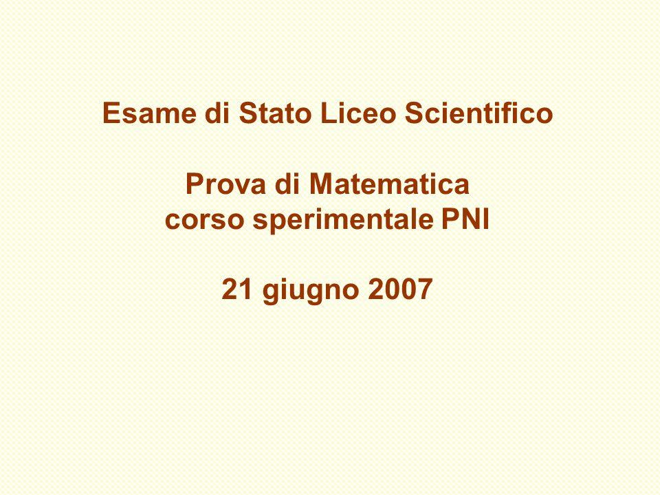 Esame di Stato Liceo Scientifico corso sperimentale PNI