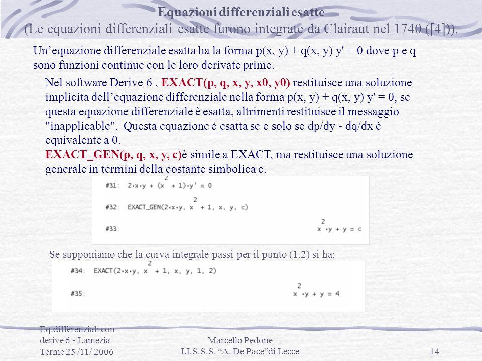 Equazioni differenziali esatte