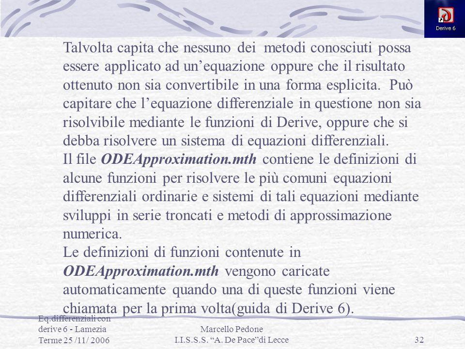 Marcello Pedone I.I.S.S.S. A. De Pace di Lecce