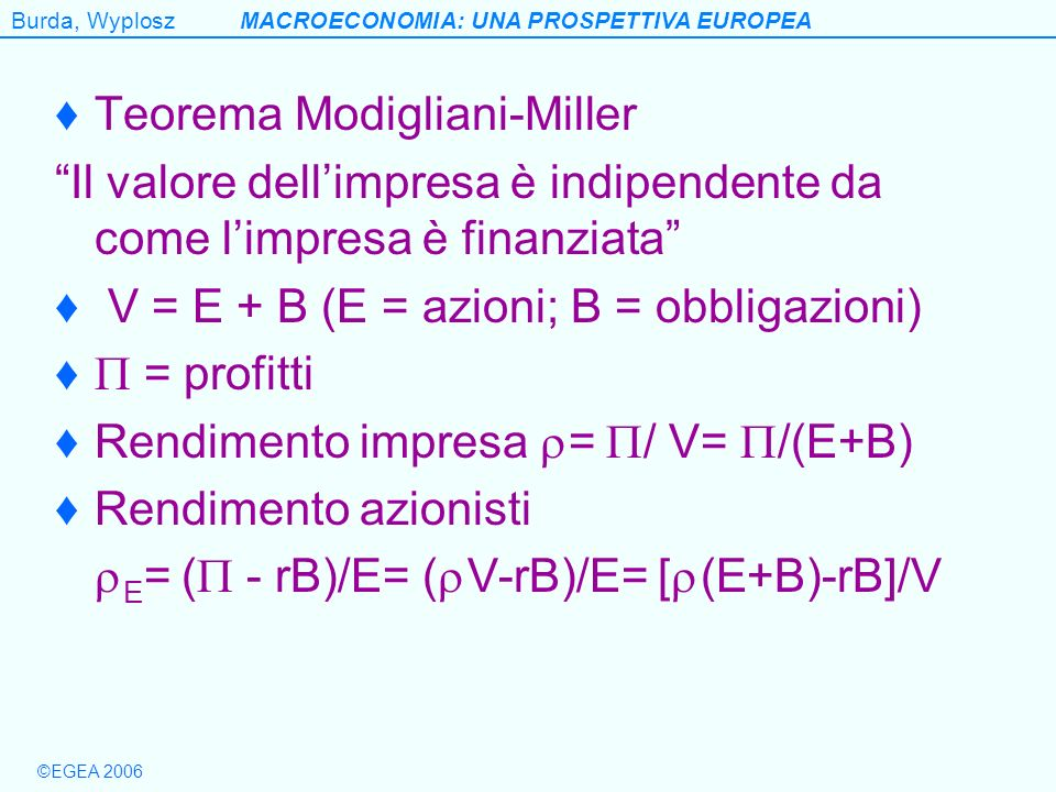 Teorema Modigliani-Miller