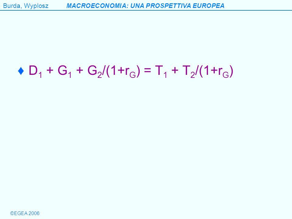 D1 + G1 + G2/(1+rG) = T1 + T2/(1+rG)
