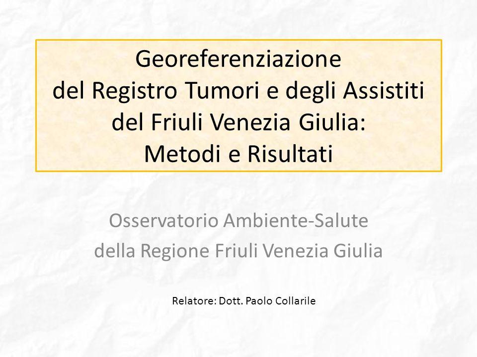 Osservatorio Ambiente-Salute della Regione Friuli Venezia Giulia