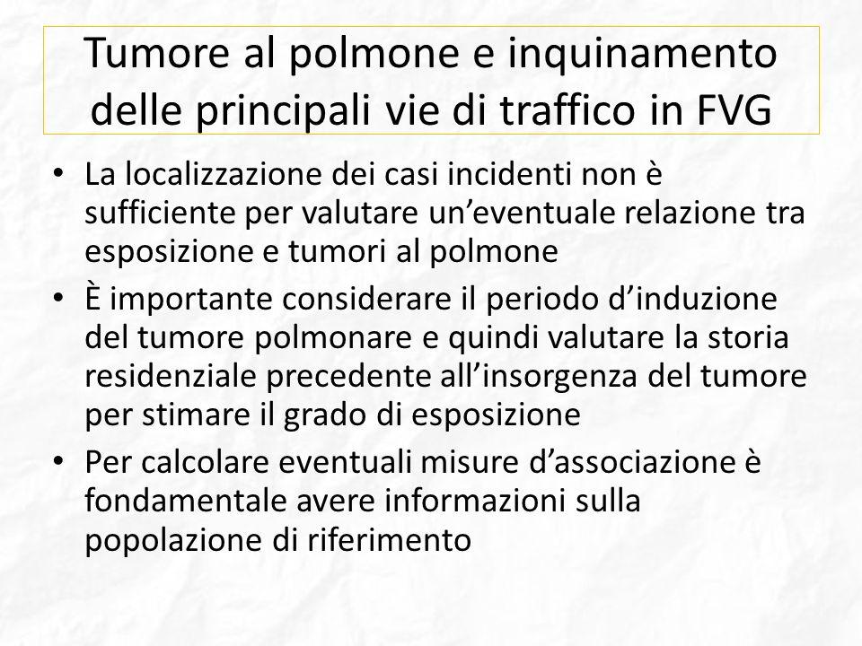 Tumore al polmone e inquinamento delle principali vie di traffico in FVG