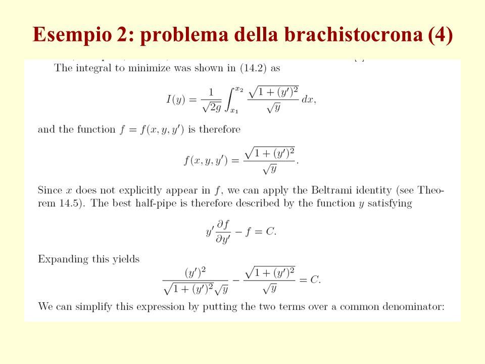 Esempio 2: problema della brachistocrona (4)