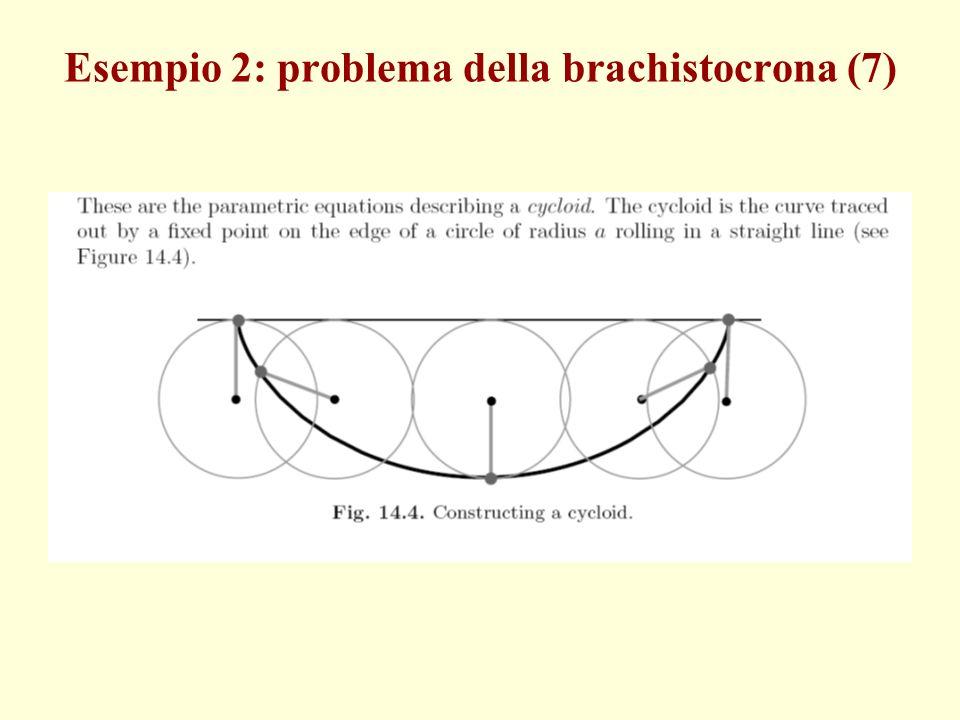 Esempio 2: problema della brachistocrona (7)
