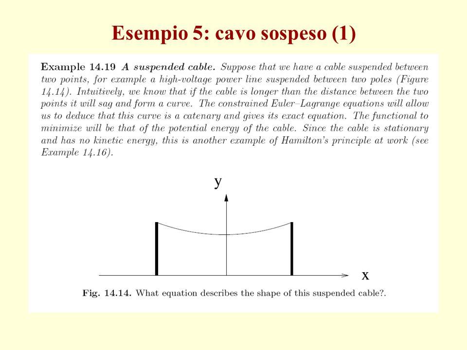 Esempio 5: cavo sospeso (1)