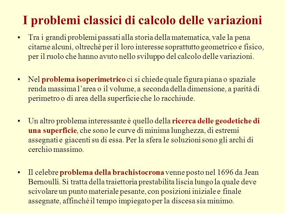 I problemi classici di calcolo delle variazioni
