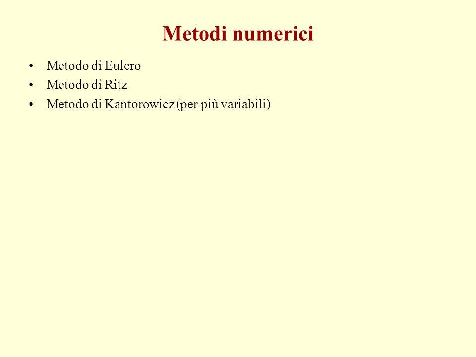 Metodi numerici Metodo di Eulero Metodo di Ritz