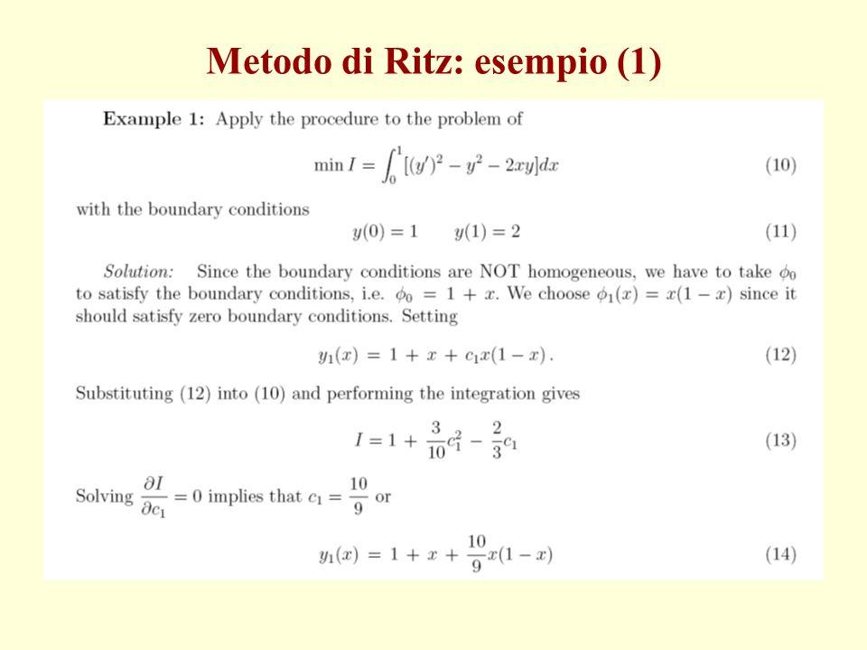 Metodo di Ritz: esempio (1)