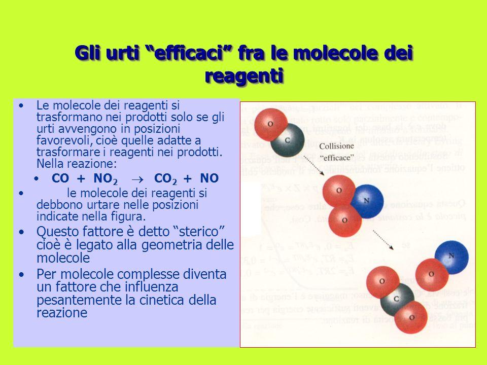Gli urti efficaci fra le molecole dei reagenti