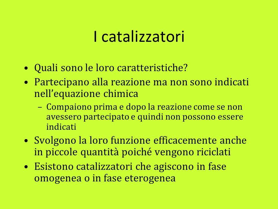 I catalizzatori Quali sono le loro caratteristiche