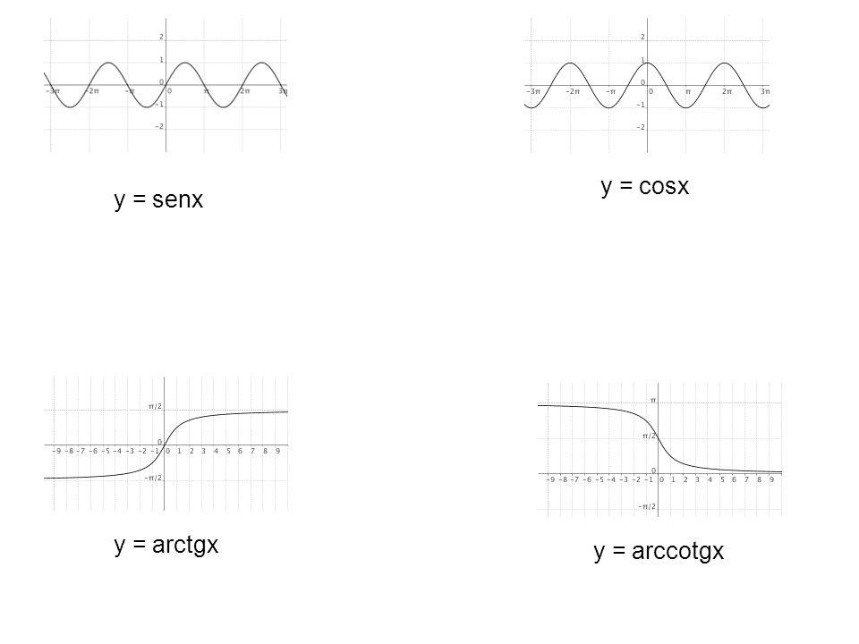 y = cosx y = senx y = arctgx y = arccotgx