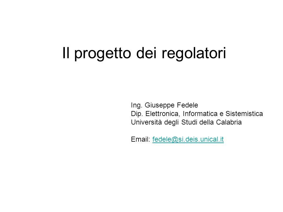 Il progetto dei regolatori