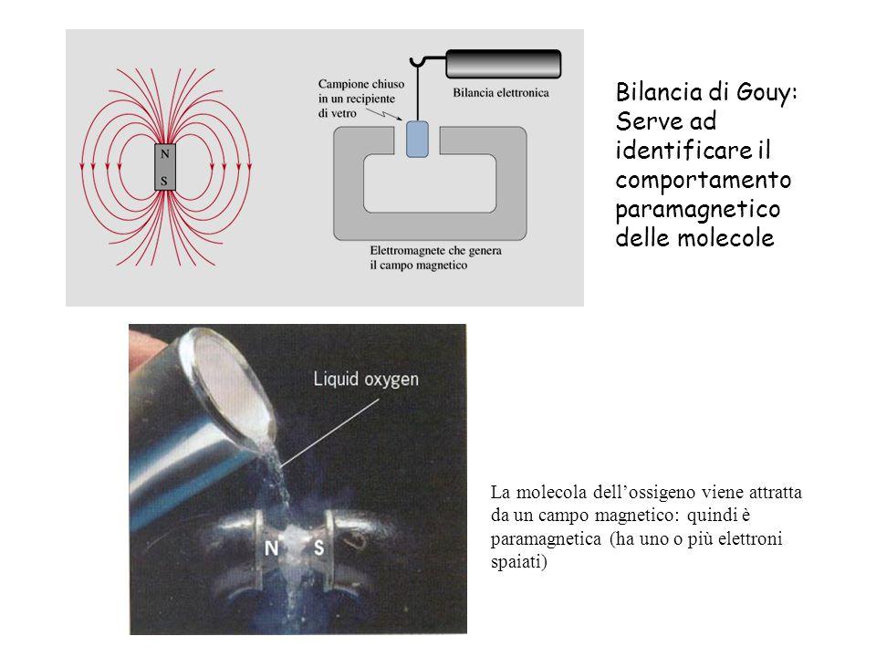 Bilancia di Gouy: Serve ad identificare il comportamento paramagnetico delle molecole.