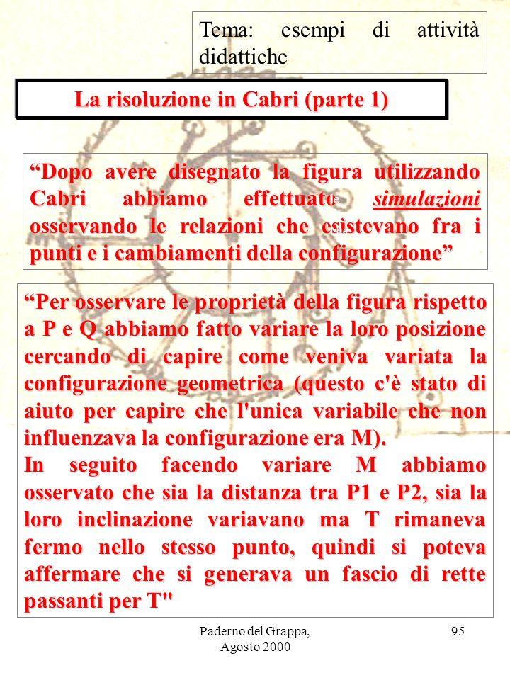La risoluzione in Cabri (parte 1)
