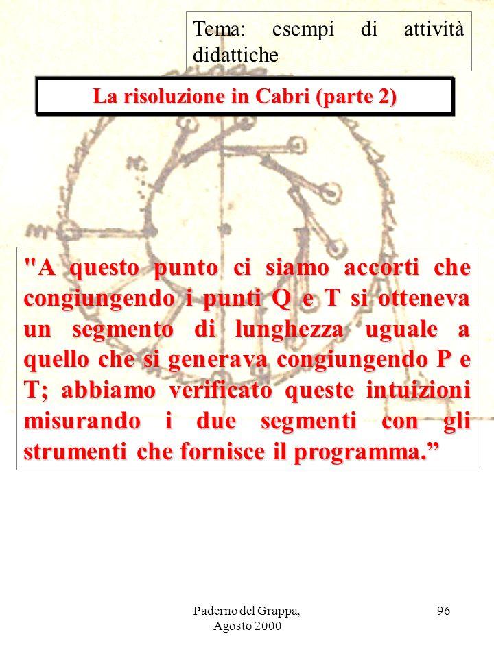 La risoluzione in Cabri (parte 2)