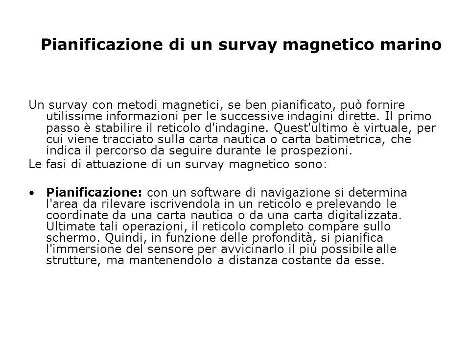 Pianificazione di un survay magnetico marino