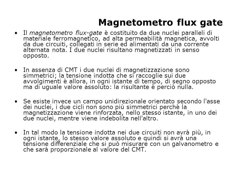 Magnetometro flux gate