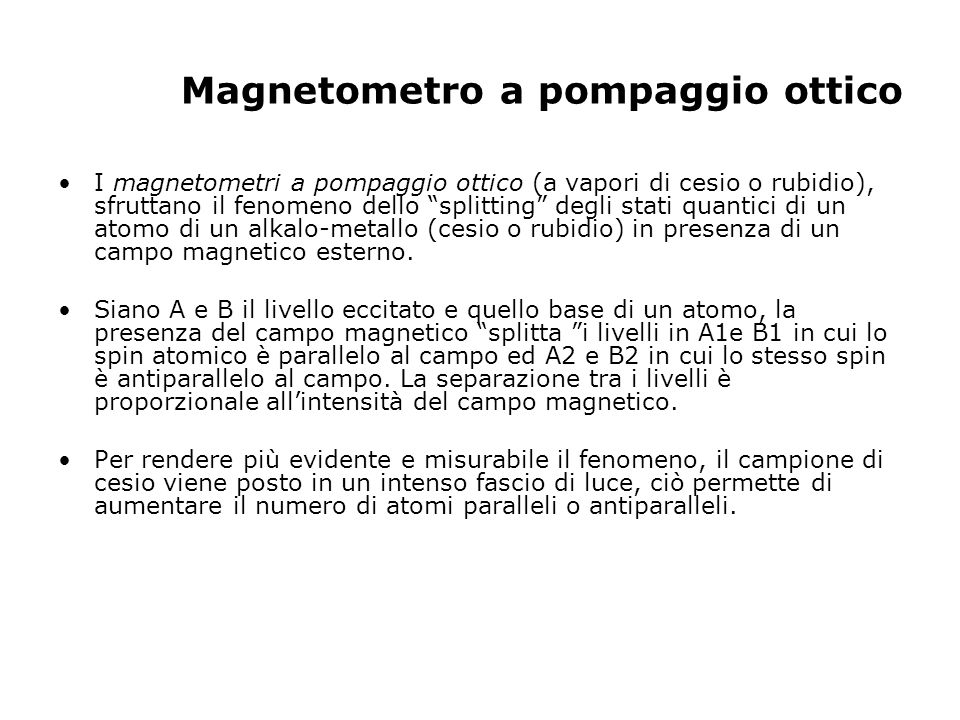 Magnetometro a pompaggio ottico