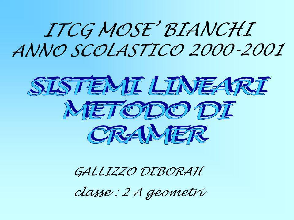 ITCG MOSE' BIANCHI ANNO SCOLASTICO 2000-2001