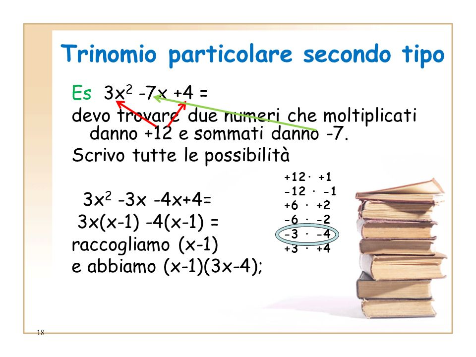 Trinomio particolare secondo tipo