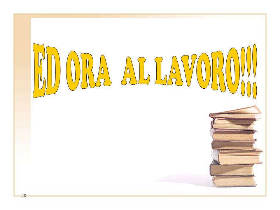 25/03/2017 ED ORA AL LAVORO!!!