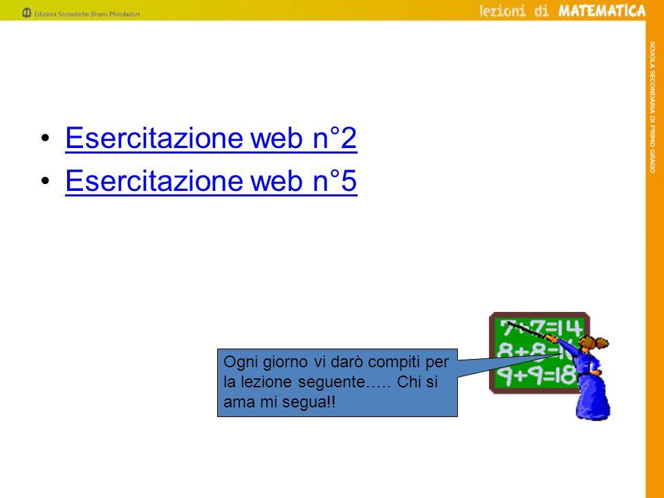 Esercitazione web n°2 Esercitazione web n°5