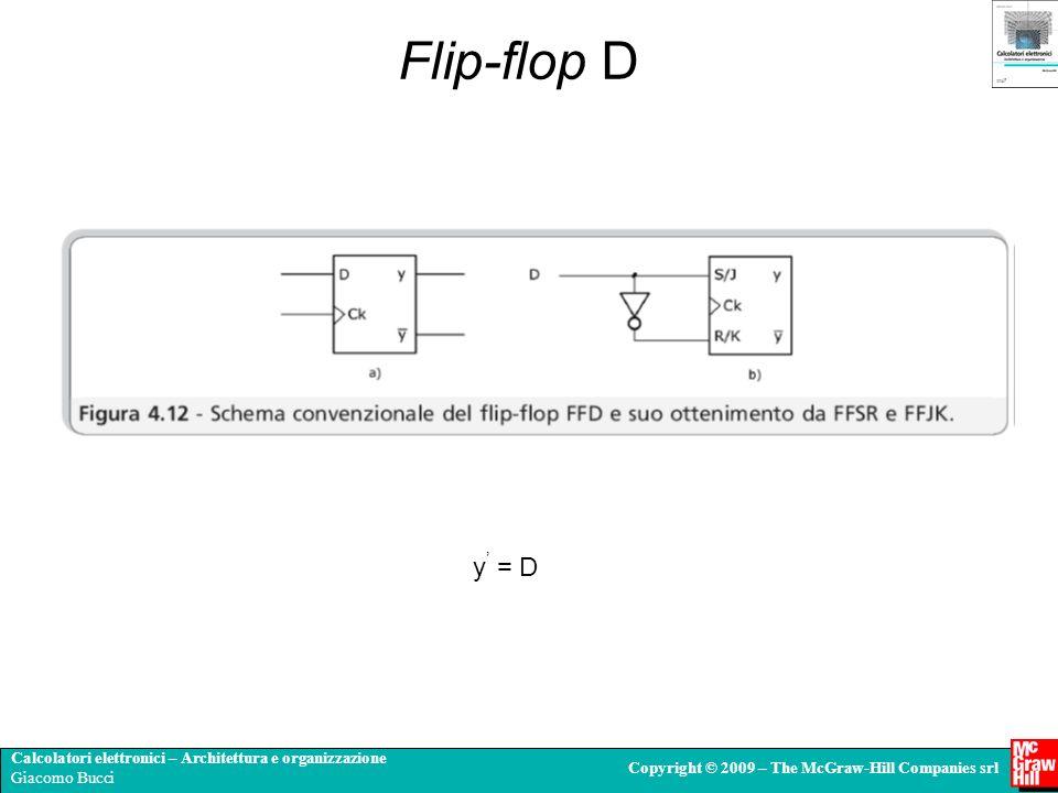 Flip-flop D y' = D