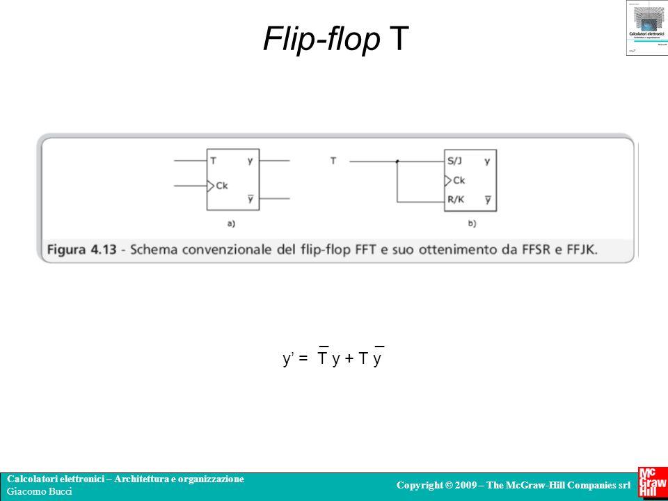 Flip-flop T _ _ y' = T y + T y