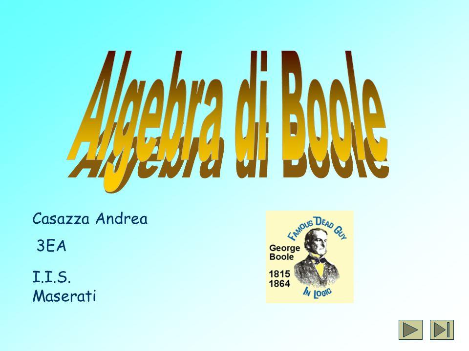 Algebra di Boole Casazza Andrea 3EA I.I.S. Maserati
