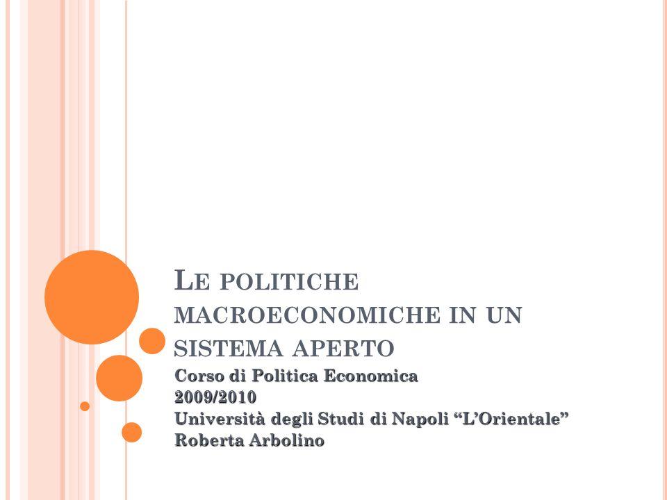 Le politiche macroeconomiche in un sistema aperto