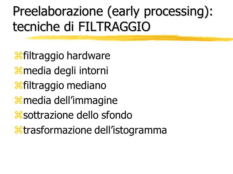 Preelaborazione (early processing): tecniche di FILTRAGGIO