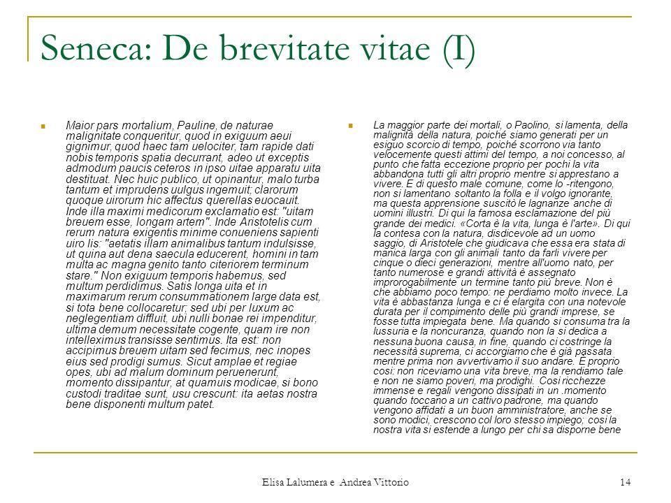 Seneca: De brevitate vitae (I)