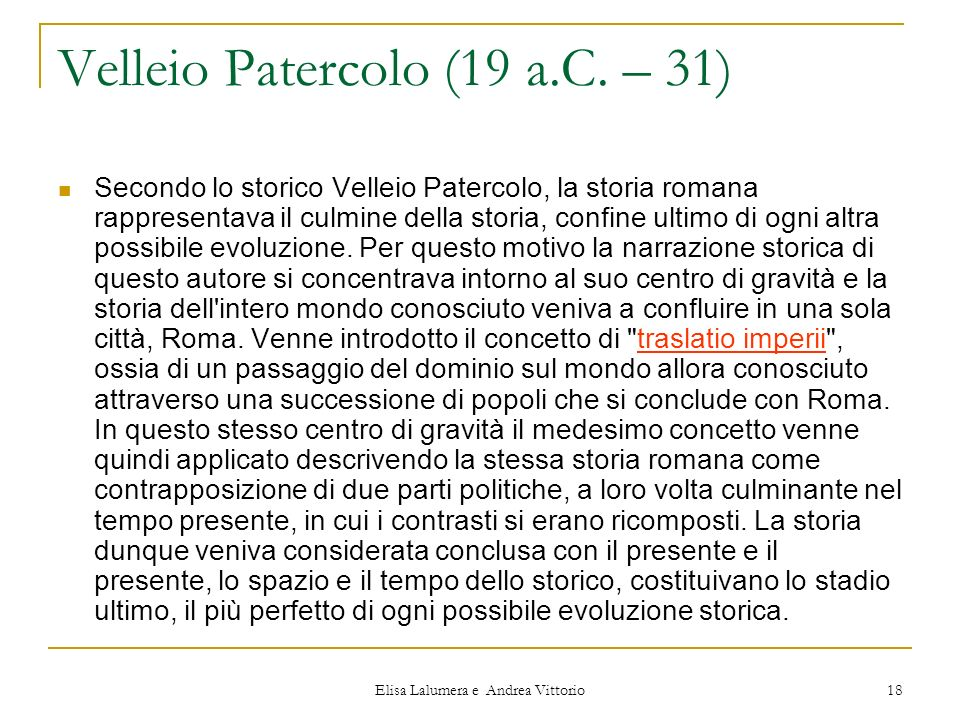 Velleio Patercolo (19 a.C. – 31)