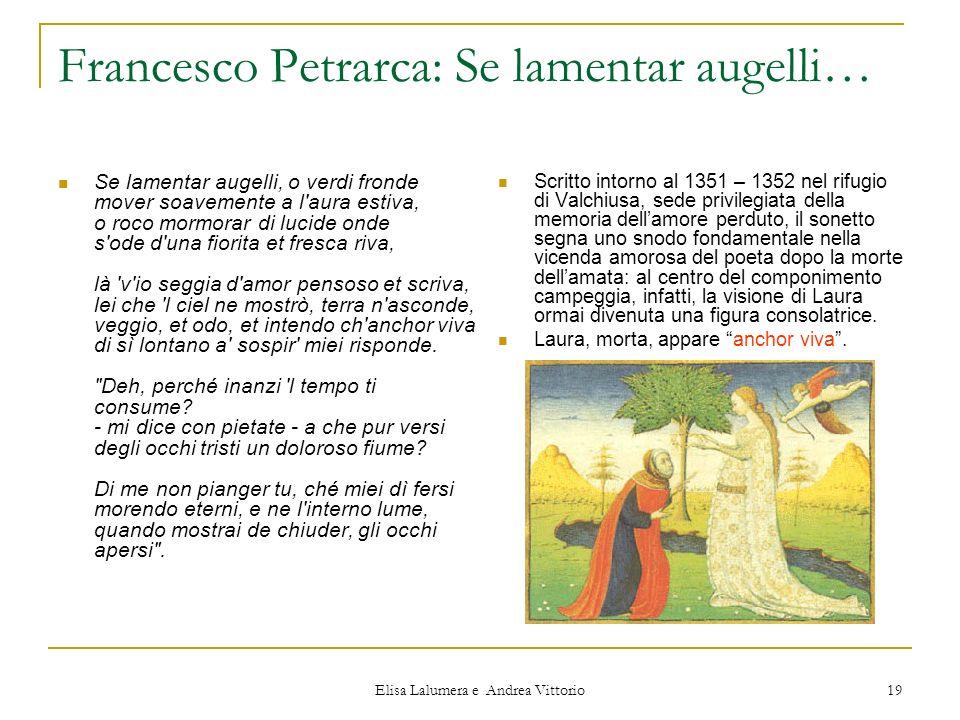 Francesco Petrarca: Se lamentar augelli…