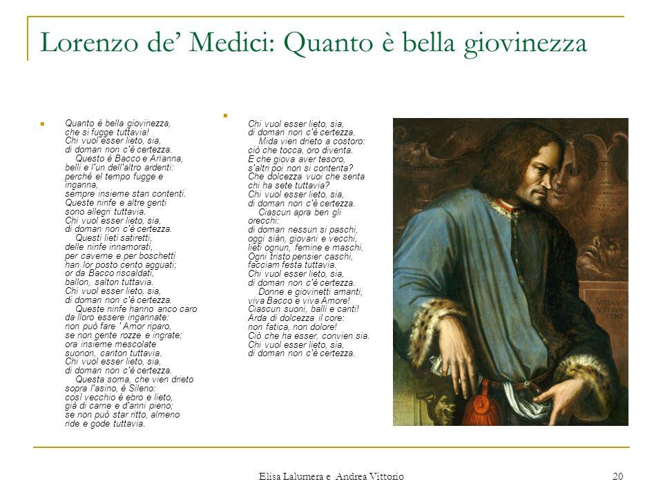 Lorenzo de' Medici: Quanto è bella giovinezza