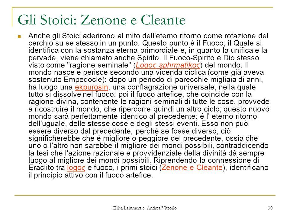 Gli Stoici: Zenone e Cleante