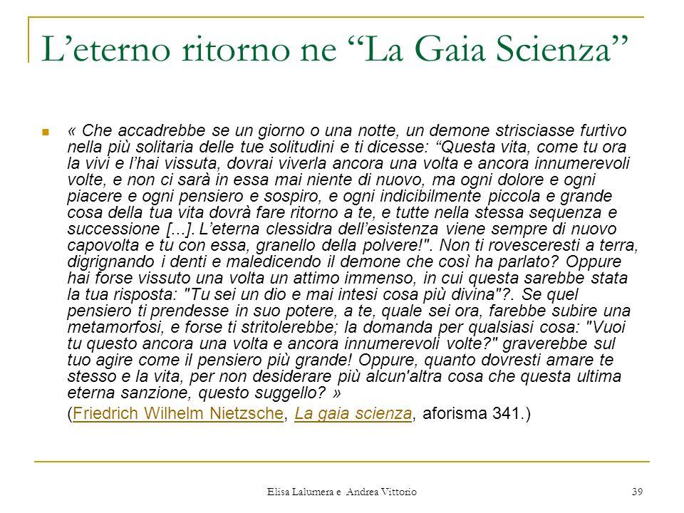 L'eterno ritorno ne La Gaia Scienza