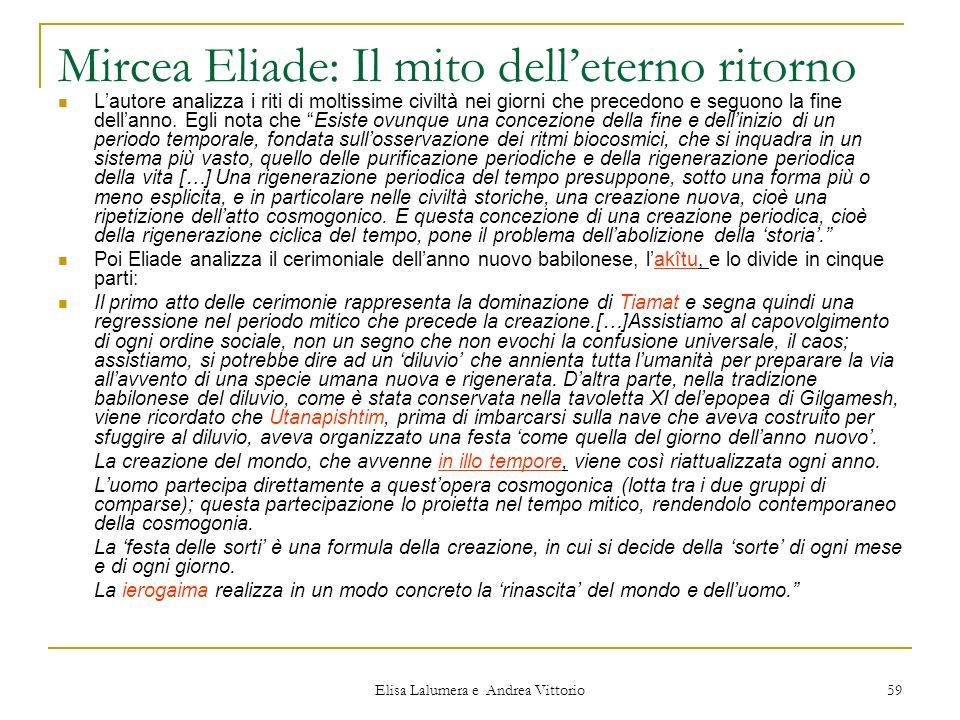 Mircea Eliade: Il mito dell'eterno ritorno