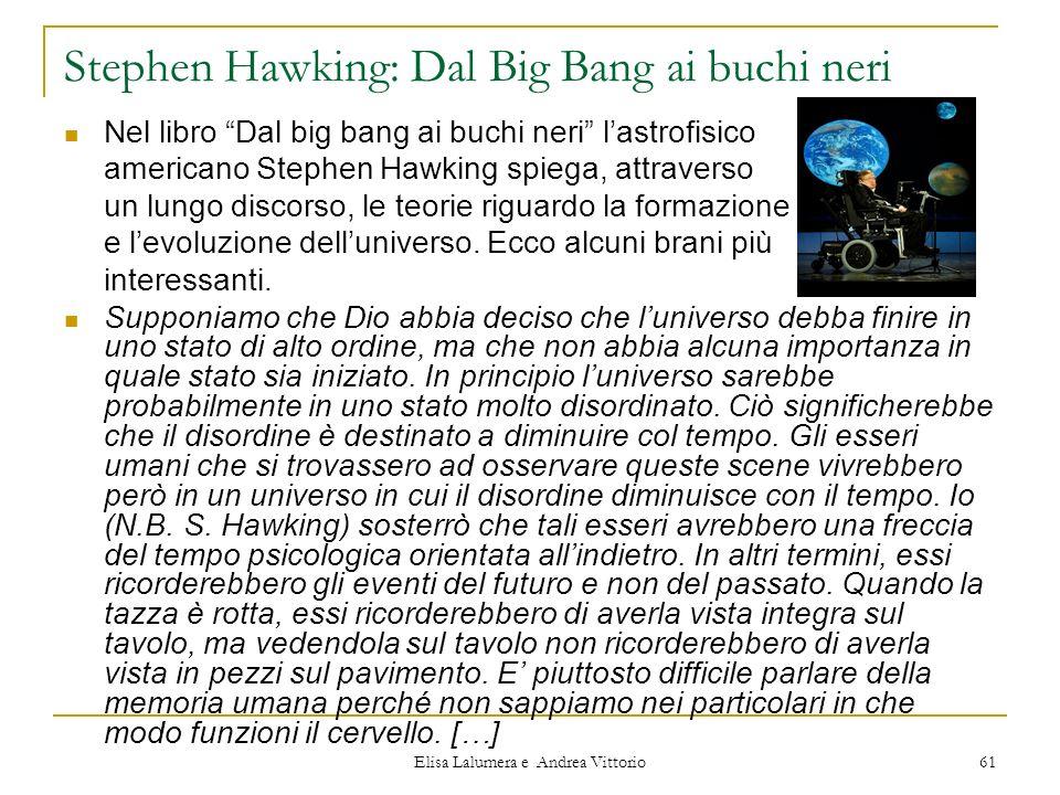 Stephen Hawking: Dal Big Bang ai buchi neri