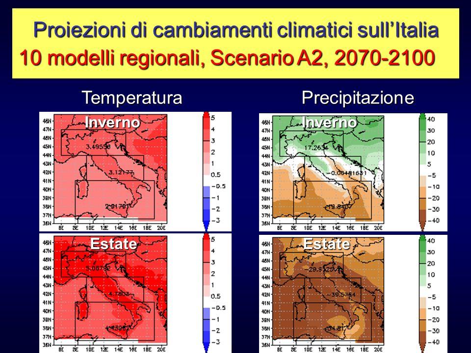 Proiezioni di cambiamenti climatici sull'Italia
