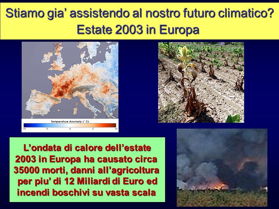 Stiamo gia' assistendo al nostro futuro climatico