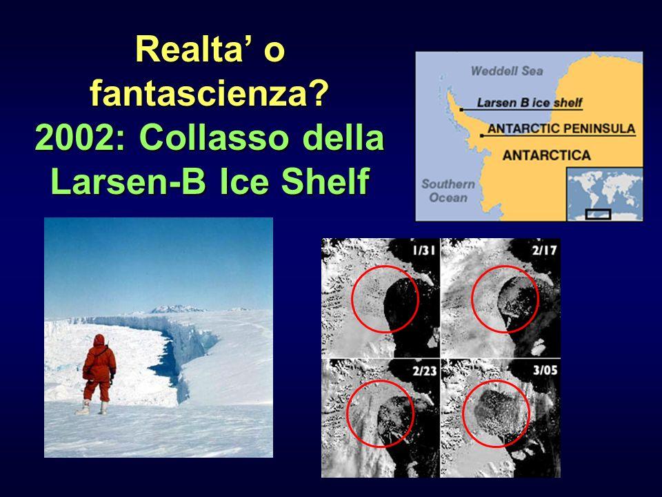 Realta' o fantascienza 2002: Collasso della Larsen-B Ice Shelf